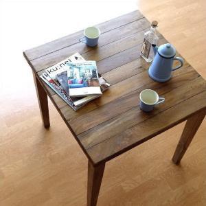 ダイニングテーブル 75×75 正方形 2人用 二人用 木 ウッドテーブル おしゃれ シャビー レトロ アンティーク ナチュラル シャビーシックなスクエアテーブル|gigiliving