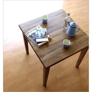 ダイニングテーブル 75×75 正方形 2人用 二人用 木 ウッドテーブル おしゃれ シャビー レトロ アンティーク ナチュラル シャビーシックなスクエアテーブル gigiliving 02