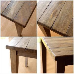 ダイニングテーブル 75×75 正方形 2人用 二人用 木 ウッドテーブル おしゃれ シャビー レトロ アンティーク ナチュラル シャビーシックなスクエアテーブル gigiliving 04