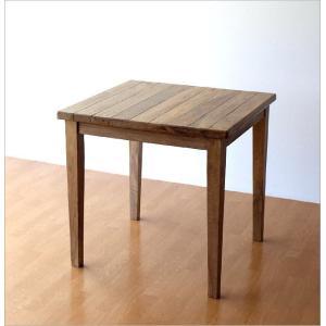 ダイニングテーブル 75×75 正方形 2人用 二人用 木 ウッドテーブル おしゃれ シャビー レトロ アンティーク ナチュラル シャビーシックなスクエアテーブル gigiliving 06