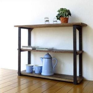 飾り棚 飾棚 オープンラック 見せる アジアン家具 レトロ アンティーク ヴィンテージ シャビーシックな3段シェルフ|gigiliving