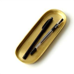 ペントレー アンティーク おしゃれ レトロ ブラス 真鍮 ペン置き アクセサリートレイ インテリアトレイ シンプル 真鍮のロングトレイ|gigiliving