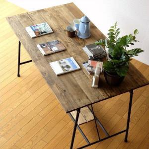ワークテーブル 作業台 ディスプレイテーブル 大きい 木製 おしゃれ レトロ アンティーク 什器 シャビーシックなワークテーブル&デスク B|gigiliving