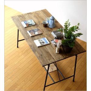 ワークテーブル 作業台 ディスプレイテーブル 大きい 木製 おしゃれ レトロ アンティーク 什器 シャビーシックなワークテーブル&デスク B|gigiliving|03