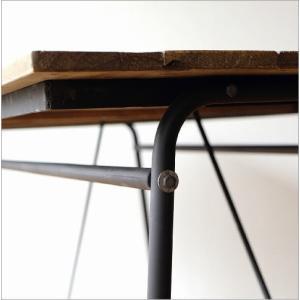 ワークテーブル 作業台 ディスプレイテーブル 大きい 木製 おしゃれ レトロ アンティーク 什器 シャビーシックなワークテーブル&デスク B|gigiliving|06