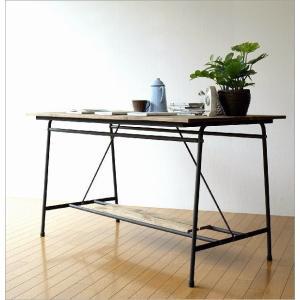 ワークテーブル 作業台 ディスプレイテーブル 大きい 木製 おしゃれ レトロ アンティーク 什器 シャビーシックなワークテーブル&デスク B|gigiliving|07