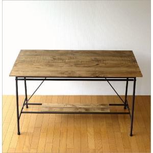 ワークテーブル 作業台 ディスプレイテーブル 大きい 木製 おしゃれ レトロ アンティーク 什器 シャビーシックなワークテーブル&デスク B|gigiliving|08