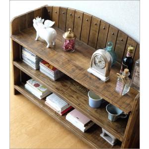 棚 シェルフ ウッドラック 飾り棚 飾棚 木製 小物収納 アンティーク レトロ ヴィンテージ シャビーシックな3段ラックアーチ型|gigiliving|03