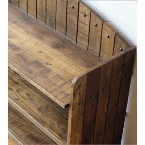 棚 シェルフ ウッドラック 飾り棚 飾棚 木製 小物収納 アンティーク レトロ ヴィンテージ シャビーシックな3段ラックアーチ型|gigiliving|04