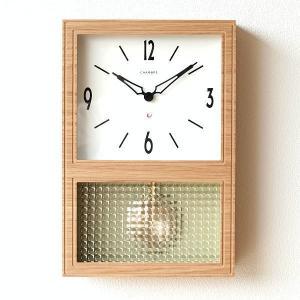 振り子時計 掛け時計 壁掛け時計 おしゃれ 木製 クラシック レトロ モダン シンプル ナチュラル デザイン 四角 見やすい 日本製 オーク振り子時計|gigiliving