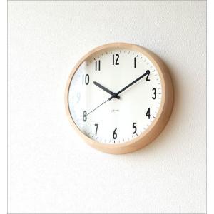 掛け時計 壁掛け時計 おしゃれ シンプル 見やすい ナチュラル 木製 無垢材 日本製 直径30cm ブランチクロック B gigiliving 02
