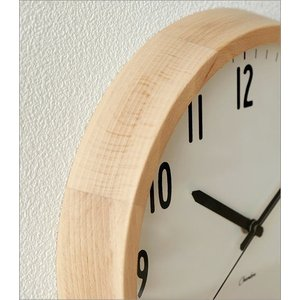 掛け時計 壁掛け時計 おしゃれ シンプル 見やすい ナチュラル 木製 無垢材 日本製 直径30cm ブランチクロック B gigiliving 03