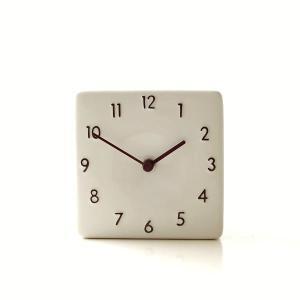 置き時計 おしゃれ アナログ 陶器 日本製 美濃焼 シンプル セラミックデスククロック A|gigiliving