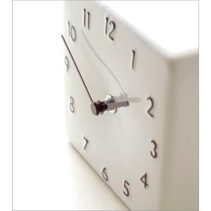 置き時計 おしゃれ アナログ 陶器 日本製 美濃焼 シンプル セラミックデスククロック A|gigiliving|03