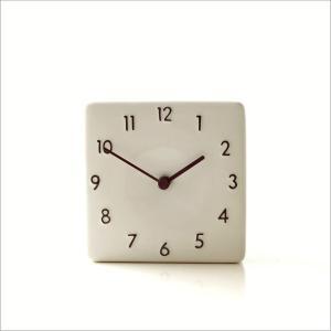 置き時計 おしゃれ アナログ 陶器 日本製 美濃焼 シンプル セラミックデスククロック A|gigiliving|05