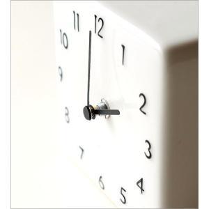 置き時計 おしゃれ アナログ 陶器 日本製 美濃焼 シンプル セラミックデスククロック B|gigiliving|03