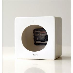 置き時計 おしゃれ アナログ 陶器 日本製 美濃焼 シンプル セラミックデスククロック B|gigiliving|04