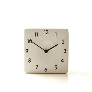 置き時計 おしゃれ アナログ 陶器 日本製 美濃焼 シンプル セラミックデスククロック B|gigiliving|05