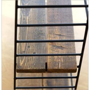 本棚 ヴィンテージ おしゃれ 木製 収納 ラック 飾り棚 飾棚 書棚 アンティーク 家具 シャビーシックなアイアン&ウッドシェルフ gigiliving 06