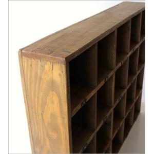 コレクション棚 飾り棚 飾棚 木製 仕切り棚 コレクションラック 番号付き レトロ シャビーシックなマルチ20ボックス|gigiliving|05