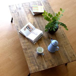 ローテーブル 木製 アンティーク レトロ 天然木 無垢 アイアン リビングテーブル センターテーブル ソファテーブル おしゃれ シャビーシックなレクトテーブル|gigiliving