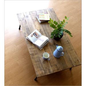 ローテーブル 木製 アンティーク レトロ 天然木 無垢 アイアン リビングテーブル センターテーブル ソファテーブル おしゃれ シャビーシックなレクトテーブル|gigiliving|02