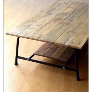 ローテーブル 木製 アンティーク レトロ 天然木 無垢 アイアン リビングテーブル センターテーブル ソファテーブル おしゃれ シャビーシックなレクトテーブル|gigiliving|04