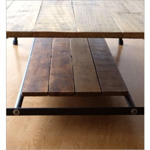 ローテーブル 木製 アンティーク レトロ 天然木 無垢 アイアン リビングテーブル センターテーブル ソファテーブル おしゃれ シャビーシックなレクトテーブル|gigiliving|05