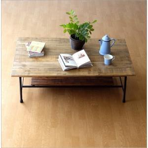 ローテーブル 木製 アンティーク レトロ 天然木 無垢 アイアン リビングテーブル センターテーブル ソファテーブル おしゃれ シャビーシックなレクトテーブル|gigiliving|06