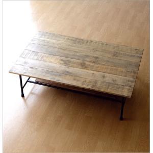 ローテーブル 木製 アンティーク レトロ 天然木 無垢 アイアン リビングテーブル センターテーブル ソファテーブル おしゃれ シャビーシックなレクトテーブル|gigiliving|07