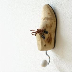 壁掛けフック ウォールフック コートフック おしゃれ かわいい ユニーク レトロなウッドのシューフック|gigiliving