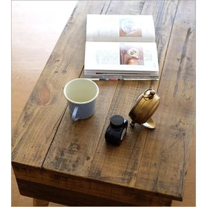 ローテーブル シャビーシック 木製 アンティーク カントリー レトロ おしゃれ 収納 ビンテージ ヴィンテージ風 コンパクト シャビーシックな棚付きローテーブル|gigiliving|04