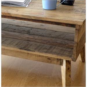 ローテーブル シャビーシック 木製 アンティーク カントリー レトロ おしゃれ 収納 ビンテージ ヴィンテージ風 コンパクト シャビーシックな棚付きローテーブル|gigiliving|05