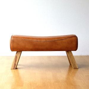 ベンチ おしゃれ 木製 革 レザー アンティーク 長椅子 チェア 腰掛け 玄関 ナチュラル 本革 天然木 リビング シンプル ナチュラル レザーとウッドのベンチ|gigiliving