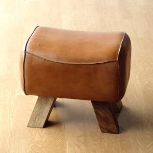スツール おしゃれ 木製 革 レザー アンティーク 椅子 イス チェア 腰掛け 玄関 ナチュラル 本革 天然木 シンプル ナチュラル レザーとウッドのスツール|gigiliving