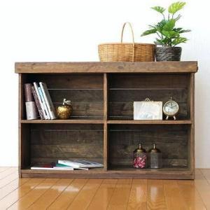 オープンラック 木製 飾り棚 ウッド ディスプレイラック 見せる 収納 本棚 シャビーシックなオープンシェルフ4|gigiliving