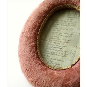 フォトフレーム 壁掛け 壁飾り ピンク アンティーク おしゃれ レトロな布フレーム オーバル|gigiliving|03