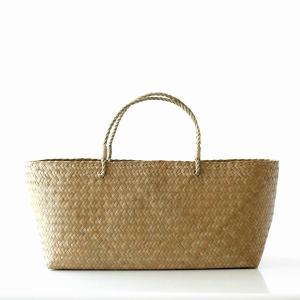 かごバッグ カチュー水草 トート かご 収納 小物入れ ピクニックバスケット かばん 編みバッグ 天然素材 ナチュラル シンプル カチュー水草カゴバッグ XL|gigiliving