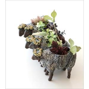 フラワーベース 花瓶 かわいい 可愛い 羊 ひつじ 動物 アニマル 花器 フラワーポット 置物 インテリア オブジェ 5匹のヒツジベース|gigiliving|02