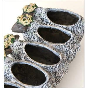 フラワーベース 花瓶 かわいい 可愛い 羊 ひつじ 動物 アニマル 花器 フラワーポット 置物 インテリア オブジェ 5匹のヒツジベース|gigiliving|04