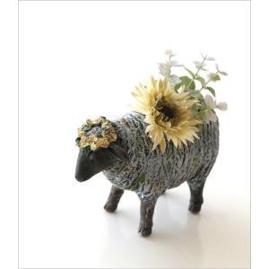 フラワーベース 花瓶 かわいい 可愛い 羊 ひつじ 動物 アニマル 花器 フラワーポット 置物 インテリア オブジェ ヒツジベース|gigiliving|02