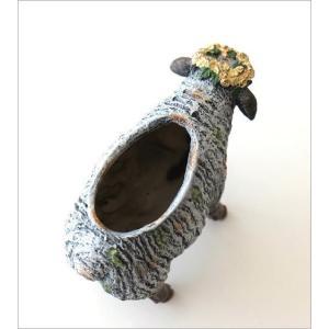 フラワーベース 花瓶 かわいい 可愛い 羊 ひつじ 動物 アニマル 花器 フラワーポット 置物 インテリア オブジェ ヒツジベース|gigiliving|04