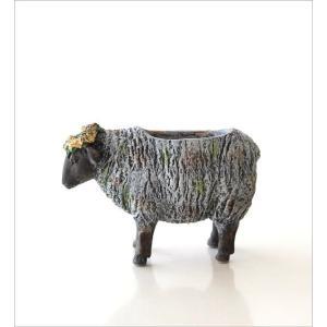 フラワーベース 花瓶 かわいい 可愛い 羊 ひつじ 動物 アニマル 花器 フラワーポット 置物 インテリア オブジェ ヒツジベース|gigiliving|05