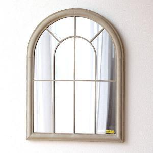 鏡 壁掛けミラー おしゃれ ウォールミラー ヨーロピアン クラシック アンティーク ウィンドウ 洋風 天丸型 アイアンのレトロな窓風ミラー|gigiliving