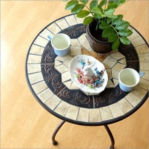 ガーデンテーブル おしゃれ アイアン カフェテーブル コーヒーテーブル ベランダ バルコニー アンティーク ラウンドテーブル ガーデンテーブル フュージョン|gigiliving