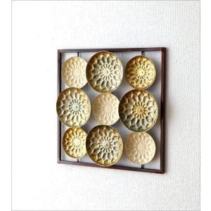 壁飾り アイアン インテリア 壁掛け おしゃれ アートパネル 花 デザイン ウォールパネル ウォールアート シック モダン アイアンの壁飾り スクエアフレーム|gigiliving|03