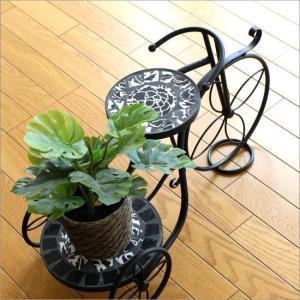 フラワースタンド 花台 鉢台 鉢スタンド アイアン おしゃれ サイクルプランター ブラックローズ|gigiliving