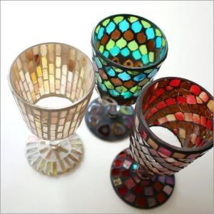 花瓶 花びん おしゃれ フラワーベース ガラス モザイクレッグベース 3タイプ|gigiliving