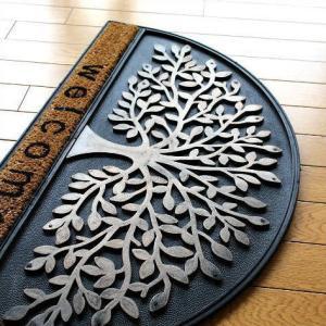 玄関マット 屋外 おしゃれ welcome エントランスマット シンボルツリーの写真