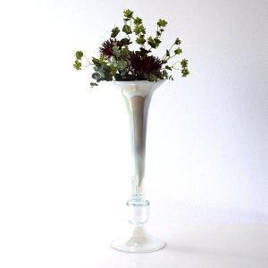 フラワーベース ガラス 花瓶 花びん おしゃれ モダン 大きい ガラスのトールベース A gigiliving